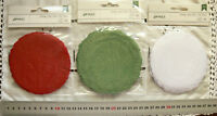 PAPER DOILY - RED, WHITE or GREEN - 40 Pack 105mm across 3 Colour Choice AC L6H