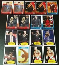 2015 2012 Topps WWE Michael Cole Jim Ross Jerry Lawler Booker T Renee Young Lot