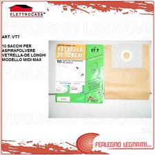 ELETTROCASA SACCHI PER ASPIRAPOLVERE VETRELLA DE LONGHI VT7 10PZ