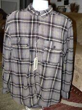 Men's Outdoor Life Printed Polar Fleece Shirt, Brown Plaid, Brand New, L