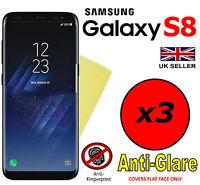 3x HQ MATTE ANTI GLARE SCREEN PROTECTOR COVER FILM GUARD FOR SAMSUNG GALAXY S8