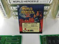 World Heroes 2 SNK Neo Geo Arcade Cartridge Tested Working MVS