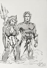Fan art,original drawing markers,Artwork,Marvel,Su perhero,Aquaman