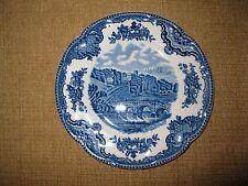 "Vintage Johnson Bro.*Old Britain Castles*Blue*Plate 6 1/4"" dish bridge England"