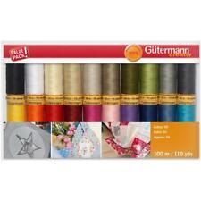 Gutermann Cotton Thread Set - 20 Spools, 110 yds each, 50 Weight