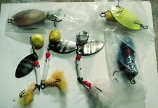 6 Vintage Spinner baits fishing Lures some primitive.
