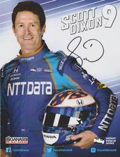 2017 Scott Dixon signed NTT Data Honda Dallara Indy Car postcard