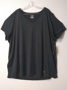 Tek Gear Workout Shirt Womens 3x Black Short Sleeve Drytek
