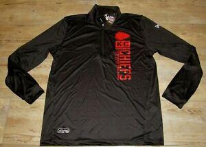 Kansas City Chiefs Authentic Combine Training 1/4 Zip Tech Jacket Men's Large