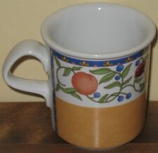 Dansk Fiance Fruit Coffee Mug Cup Yellow Ochre French Provincial Tuscan