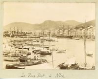 France, Le Vieux Port à Nice  Vintage citrate print.  Tirage citrate  8x11