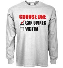 Long sleeve t-shirt second 2nd amendment gun owner gear men's clothing
