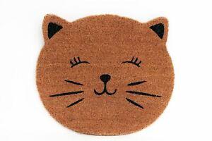 Hessian Type Cat's Face Door Mat 50cm x 45cm approx