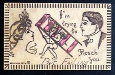 Postcard Leather OH Brooklyn I'm Trying To Reach You But Failing K191