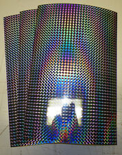 """vinyl self adhesive silver prism 8""""x12"""" sheets (3 count) see pics"""