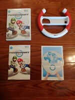 Nintendo Wii Mario Kart Game Complete With Steering Wheel  TESTED