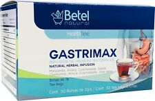 Gastrimax Herbal Tea by Betel Natural - Natural Gastric Support - 30 Tea Bags