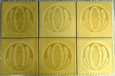 6 ANTIQUE HELMAN BELGIUM - MAJOLICA TILES  C1900