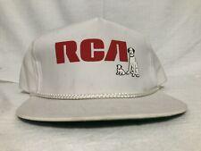 New ListingVintage Rca Electronics Snap Back Hat Dogs Radio White Red