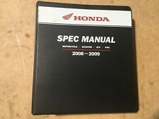 Honda Spec Manual Motorcycle Scooter Atv Pwc 2008-2009 S0537.1 Mmm12378(0804)