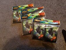 World of Warcraft MTG Magic Headless Horseman Card Sleeves 80 Count Pack L @ @ K!