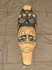 """Wooden Tribal Mask Five Face 21"""" x 6"""""""