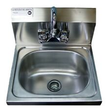 "Whs1410-5D - Wall Hung Sink w/ Faucet 14"" S/S"