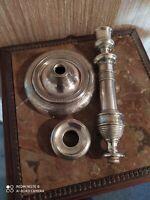 Bougeoir en Bronze Argenté XIXème