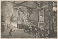 C1155 Le Creusot - Marteau-pilon à la forge de grosses-oeuvres - 1867 engraving