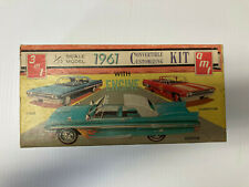 Vintage AMT 1:25 61 Ford Convertibe Kit, incomplete ,unbuilt KIT open Box , used