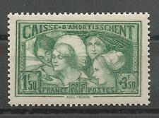 France N° 269 Caisse d'Amortissement neuf**/MNH, TTB, cote : 350,00