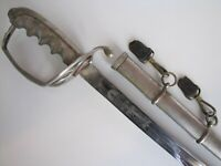 William C. Rowland Model 1902 Army Officers Etched Sword w/Scabbard
