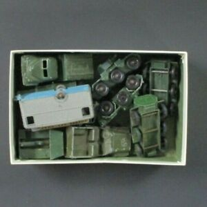 10 - Vintage LESNEY  Made in England Toy Military Trucks Heavily Used