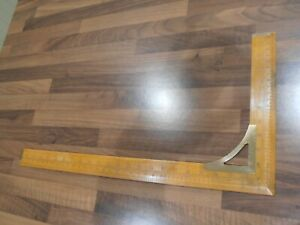 """Vintage Boxwood and Brass 24 x 12"""" Proportionate Waist Measuring square"""