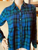 Hollister by Abercrombie & fitch womens Plaid Flannel Pintucked tunic shirt sz S