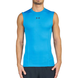 Under Armour UA Coolswitch Mens Supervent Sleeveless Blue Compression Vest