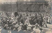 AK Beisetzung der Deutschen Kaiserin Leichenwagen auf dem Weg Neuen Palais 1921