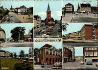 DORSTEN Nordrhein-Westfalen ~1960 Strassen & Gebäude alte color Mehrbildkarte