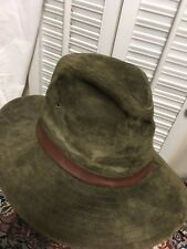 New York Hat   Cap Company Suede Leather Aussie Outback Swagman Hat Large 26d4bc036bfe