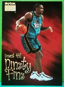 Grant Hill subset card Ninety Fine 1998-99 Skybox #208