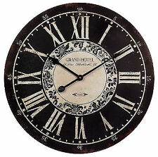 IMAX Grand Hotel Wall Clock In Black/white 16051