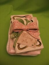 """""""THINKING OF YOU"""" CERAMIC SOAP DISH w/PINK BOW & ROSE by """"ATHENA"""" - USA"""