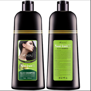 Black Natural Hair Dye Color Shampoo Mokeru Long Lasting for Men Women Permanent
