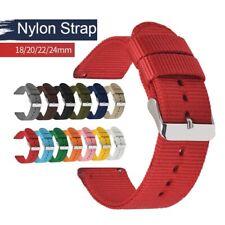 Premium Woven Nylon Replacement Strap Wrist band Sports Smartwatch Strap 18-24mm
