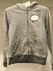 NWT GAP KIDS ED Ellen DeGeneres Sweatshirt Zip JACKET Hoodie ~ Sz L 10 ~ Gray