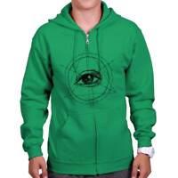 Eye of Providence Illuminati Shirt | Conspiracy Theory Mystic Zip Hoodie