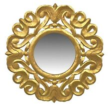 "Wall Mirror Wooden Frame Gold 24""- Decorative Wall Decor - Wall Mirror - Accent"