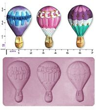 HOT AIR BALLOONS Small Craft Sugarcraft Fimo Sculpey Silicone Rubber Mould