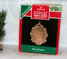 Hallmark Keepsake Miniature Ornament 1990 Brass Bouquet
