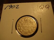 1902 H - Canada circulated 10 cent coin - silver Canadian dime